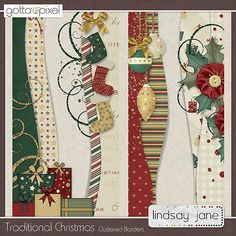 Cute Christmas borders! Lindsay Jane Designs