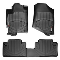 """WeatherTech 442281-441172 Series Black Front and Rear FloorLiner - FloorLiner(TM) In the quest for the most advanced concept in floor protection, the talented designers and engineers at WeatherTech(R) have worked tirelessly to develop the most advanced floor protection available today! The WeatherTech(R) FloorLiner(TM) accurately and completely lines the interior carpet giving """"absolute interior protection(TM)""""! The WeatherTech(R) FloorLiner(TM) lines the interior carpet up the front, back…"""