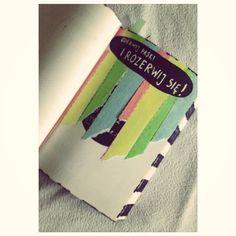 Podesłała Anna Gruchała, instagram; @ankqqq #zniszcztendziennik #kerismith #wreckthisjournal #book #ksiazka #KreatywnaDestrukcja #DIY