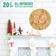 20% off Wood Letters code:WOODHOLIDAY 11/9/20-11/11/20