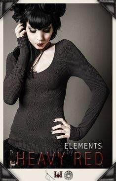 The Goth Aesthetic: Shades of Grey Sweater by Heavy Red. $58.