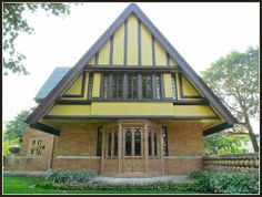 Nathan G. Moore House interior   NATHAN G. MOORE HOUSE ~ Frank Lloyd Wright, Architect (1895)
