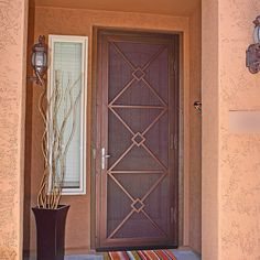 Custom wrought iron security screen doors or storm doors of the highest quality. Contact First Impression Security Doors today! & Baroque Security Screen Door | Exclusive Collection | Pinterest ...