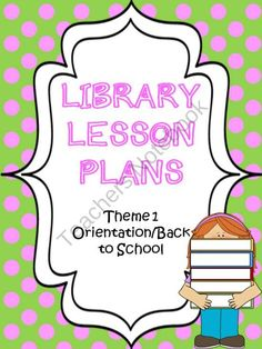 Library Lesson Plans from Butterdreamsandbindings on TeachersNotebook.com (26 pages)  - This packet is for Media Specialist/Librarians that teach primary grades k-2 and can be adapted to 3-5.  This is the 5 WEEK packet I use with my media classes that I meet with once a week for 45 minutes.  This packet is for Back to School Orientation and