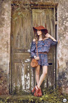 FashionCoolture - 01.09.2015 look du jour Amaro boho outfit printed dress (1)