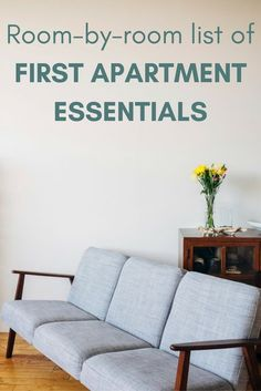 To keep sane when thinking about what to buy for your first apartment, everything should be broken down into two categories: the stuff you absolutely need, and the stuff you merely want but can live without. Here's a list of first apartment essentials.