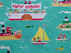 Vintage Gift Wrapping Paper  Juvenile by TheGOOSEandTheHOUND