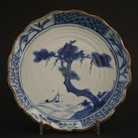 Ming Porcelain Kaiseki (Serving dish) for the Japanese Market. Late Ming Dynasty, Tianqi or Chongzhen c.1620-1640.