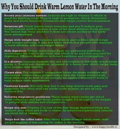 Why You Should Drink Warm Lemon Water in the Morning