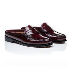 0ea722dd676d Weejuns Penny Slide Mule Wine Leather Loafers For Women