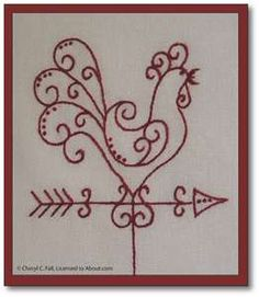 Great for a tea towel, or the center block in a country/prim quilt