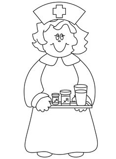 nurses gave drugs healthy coloring pages