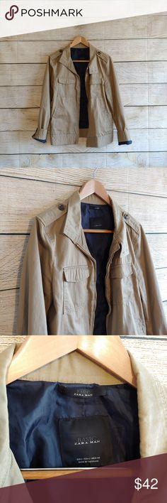Blu Apparel ® Colletto A Costine Da Uomo Giacca di cotone beige zip completa 4 Colori UK STOCK