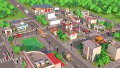 Present to you the low poly city pack which contains of: 17 unique buildings, 9 cars, 5 types of trees and much more. All models was created in modern style Low Poly Games, Banks Building, Unique Buildings, City Maps, Flat Color, Cinema 4d, Cartoon Styles, Layout, Mansions