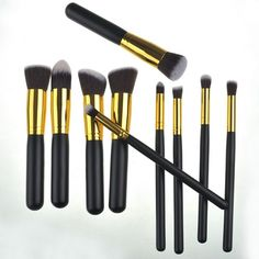 11.05$  Watch now - http://di80c.justgood.pw/go.php?t=166050301 - 10 Pcs Facial Eye Nylon Makeup Brushes Set