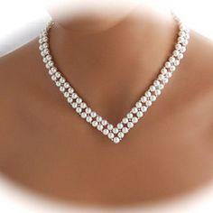 shixin® boda v forma vendimia collar de perlas blancas (1 unidad) 1794190 2016 –…