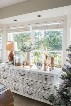 Christmas decor - blush and gold - holiday home tour - dining room holiday decor - wood tones, boho, disco ball, sparkles