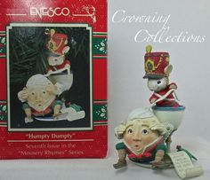 Enesco Humpty Dumpty Ornament Mouse #7 Mousery Rhymes Nursery Treasury Christmas
