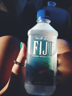 best water ever Fiji Water Bottle, Water Bottles, Water Aesthetic, Starbucks Recipes, Eat Fruit, Smoothie Drinks, Thats The Way, How To Get Money, Drinking Water