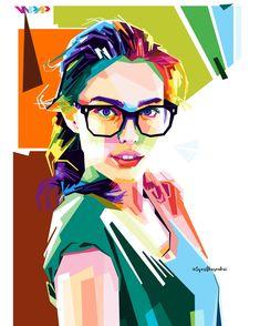 Model women in wpap By. Arte Pop, Pop Art Face, Pop Art Artists, Pop Art Portraits, Art Corner, Happy Art, Portrait Illustration, Art Music, Vector Art