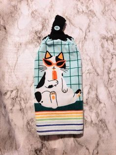 Cat Crochet, Crochet Towel, Double Crochet, Halloween Crochet, Halloween Skull, Cat Decor, Towel Hooks, Kitchen Towels, Tea Towels