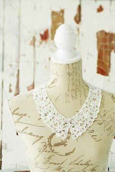 DIY lace collar necklace