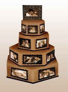 cool idea for grooms cake - Beautiful Photo Cake - Great idea! Unique Wedding Cakes, Wedding Cake Designs, Unique Weddings, Silver Weddings, Cake Wedding, Indian Weddings, Fancy Cakes, Cute Cakes, Beautiful Cakes