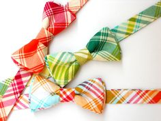 Boys bowtie plaid bowties for toddlers baby bowtie by LilGents, $18.00