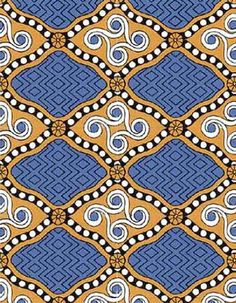 Reconstruction of a Minoan fabric pattern from the Lady B fresco at Pseira.