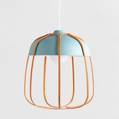 Modern Version of Metal Cage Workshop Lamps