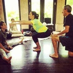 #yogastory Day 8: Gary and Maria make Awkward a little less awkward in posture mechanics.   Improve every day: www.evolationyoga.com/teach   #yoga #love #hotyoga #yogateachertraining