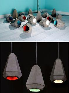 Cement pendant #lamp PORTLAND by Innermost   #design James Bartlett