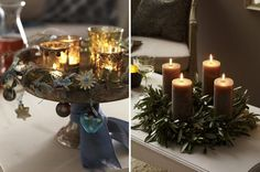Simple elegance Christmas candles | Christmas Decorating Ideas Christmas Decorating Ideas Christmas ...
