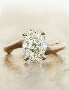 Unique Organic engagement rings by Ken & Dana Design in NYC