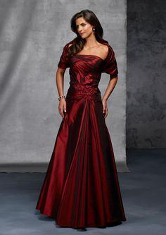 Red Dress Long Elegant Mother of the Bride