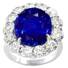 Vintage 15.93ct Natural Sapphire Diamond Platinum Ring - See more at: http://www.newyorkestatejewelry.com/rings/15.93ct-sapphire-natural-no-heat-diamond-ring/20932/1/item#sthash.znTPaFoG.dpuf