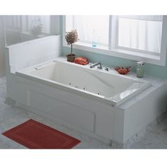 """""""This  whirlpool tub with adjustable jets is great for those of us who are tall and long. If you've wanted a tub you can truly stretch out in, this one is it."""" - Home Depot customer RelaxedInTexas from Fort Worth, TX"""