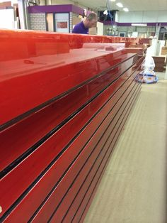Reception desk with color coating by ccoating.nl  #epoxy #colorcoating