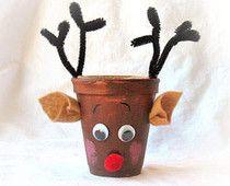easy crafts red nose reindeer