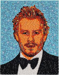 Heath Ledger pill portrait  Jason Mecier.
