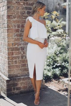 Date Night Dress - White Esther Boutique, Hey Gorgeous, White Dresses For Women, Date Night Dresses, Curvy Dress, Outfit, Modern, Cold Shoulder Dress, Clothes For Women