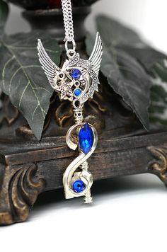 Moon Dreamer Key Necklace  66 by KeypersCove on Etsy, $36.00