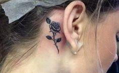 minimalist flower tattoo that you'll love - Female Tattoos - - Minimalist Tattoo - Sexy Tattoos For Girls, Little Tattoos, Trendy Tattoos, Tattoos For Women, Mädchen Tattoo, Tattoo Son, Piercing Tattoo, Piercings, Rose Tattoos