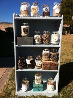 Rustic Farmhouse Decor | rustic wedding decor. Rustic mason jars. Farmhouse wedding. Barn ...