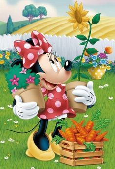 Minnie brings such joy :) Mickey Mouse Art, Mickey Mouse Wallpaper, Mickey Mouse And Friends, Disney Wallpaper, Walt Disney, Disney Magic, Disney Mickey, Disney Art, Retro Disney