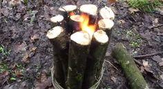 [VIDEO] How To Make a Swedish Torch Stove - Die Hard Survivor