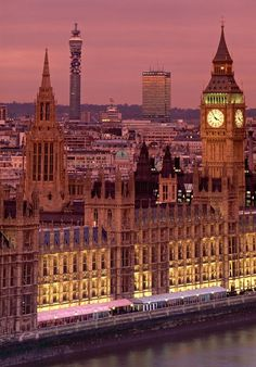 The Houses of Parliament, London, England.