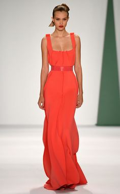 Reem Acra from Best Looks From New York Fashion Week Spring 2015 | E! Online.  Gorgeous orange dress.