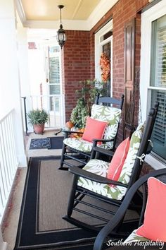 Love this front porch.