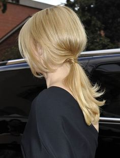 Claire Danes' low ponytail added a casual lilt to her formal red carpet attire. Re-create the style with tips from her stylist.